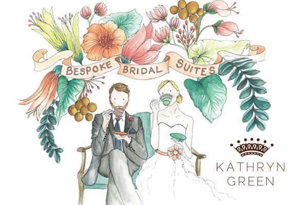 KathrynGreenIllustration Já pensou em fazer um convite de casamento ilustrado?