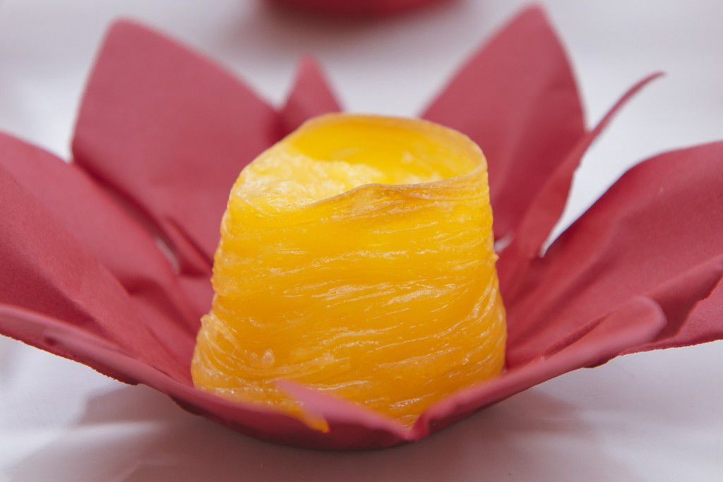 Flor de abacaxi (creme de abacaxi com coco)