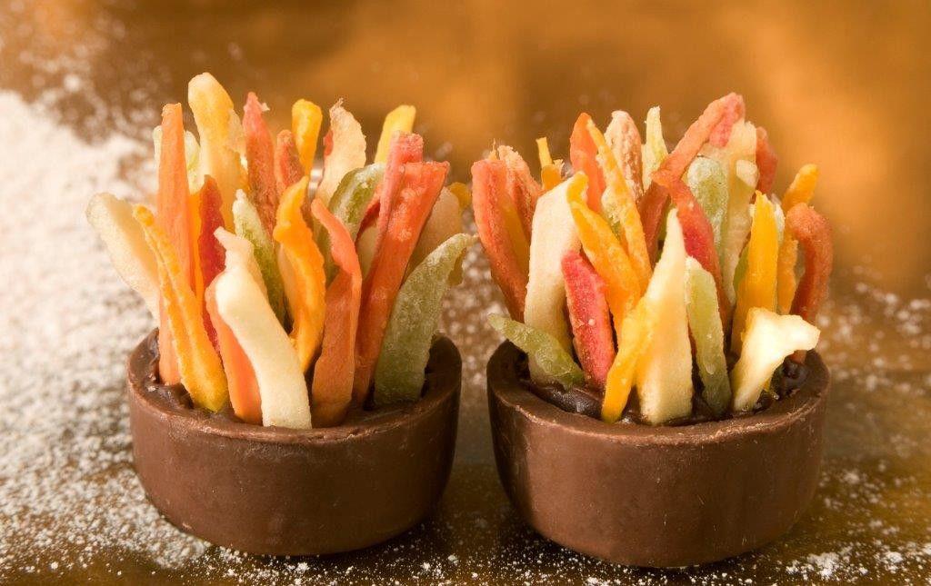 Salada de Frutas com Ganache