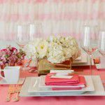 {Chá de Lingerie} Almoço em rosa e dourado