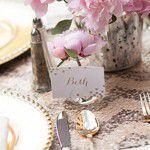 Chá em rosa e dourado