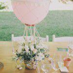 {DIY} Mini balão de ar quente com flores
