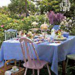 Chá da tarde na Primavera