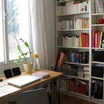 Home office simpático e cozinha fofa!