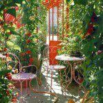 Jardim retrô e florido pra alegrar o sábado