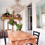 Lustre de cristal na cozinha = Glamour!