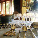 Linda mesa de almoço de Dia das Mães
