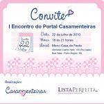 Convite: I Encontro do Portal Casamenteiras