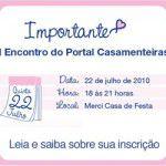 IMPORTANTE: I Encontro do Portal Casamenteiras