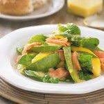 {Prato do fim de semana} Salada de salmão, aspargos e manga