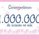1 milhão de acessos por mês!