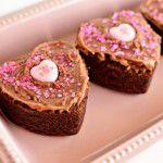 Brownies de coração {Receita de lembrancinha}