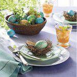 {Faça você mesma} Ovos azuis para enfeitar a mesa de Páscoa