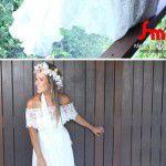 O deslumbrante vestido de Fernanda Pereira