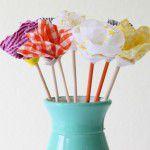 {DIY} Flores na decoração: Com tecido e sem costura