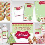 Kit de Natal para impressão