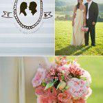 Silhuetas dos noivos