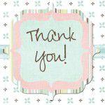 {Cartões Thank you} – Lembrancinha da maternidade