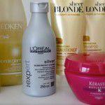 Produtos para cabelos loiros ou com mechas
