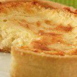 Quiche de queijo branco