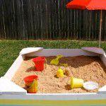 Caixa de areia para crianças