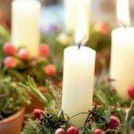 Velas na decoração de natal
