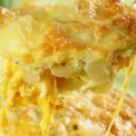 Comida rápida: fritada de batata com queijo