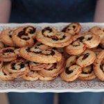Palmier de tomate seco, azeitona e parmesão