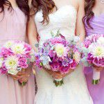 Um romântico casamento em tons de orquídea