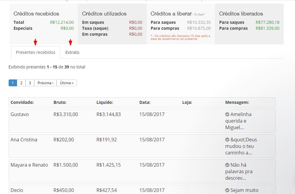 Screenshot-134 Lista de Presentes de Casamento em dinheiro do Casare!