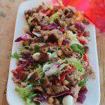 Salada de Atum com grão, amêndoas e legumes