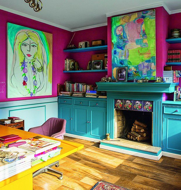 Colorful Eclectic Office