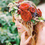 Flores na cabeça