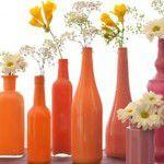 Reutilizando garrafas de vidro na decor da casa