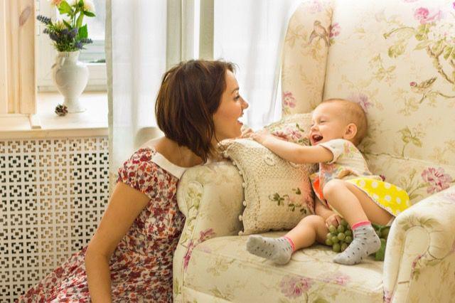 Mãe falando com o bebê