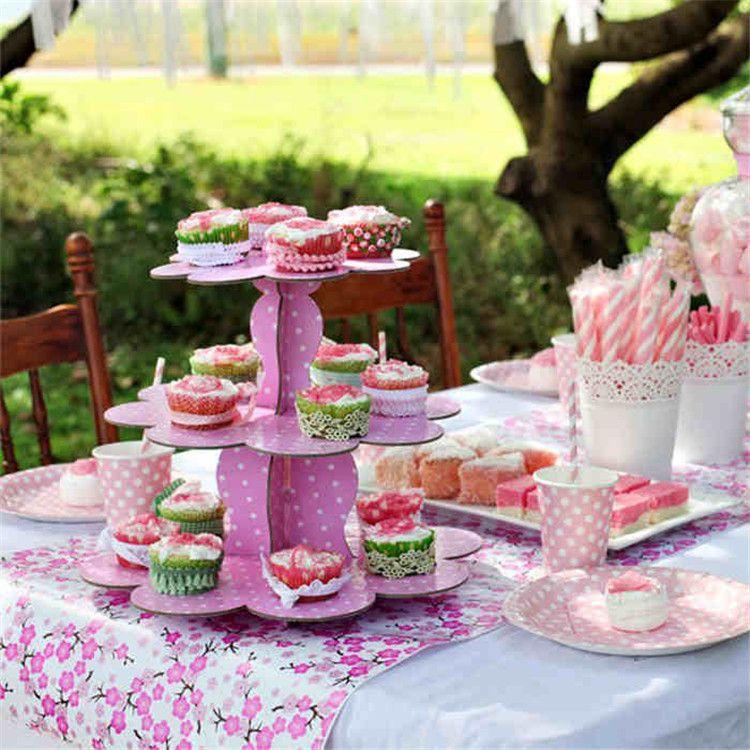 Evento-e-fontes-do-partido-DIY-Dot-papel-ondulado-carrinho-do-bolo-de-casamento-festa-de