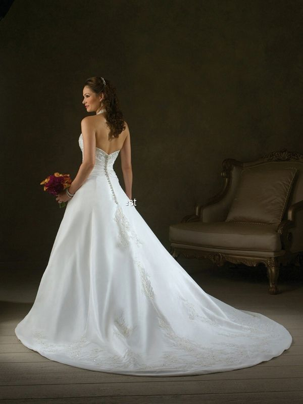 A-Charming-A-line-Floor-Length-Brides-Dress-with-V-neckline-Halter-Strap-Embroidered-Bodice-and-Chapel-Train-WG5373-01