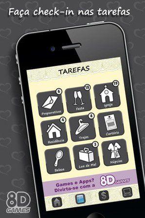 Fábrica-de-Casamentos Aplicativos para ajudar a planejar o casamento