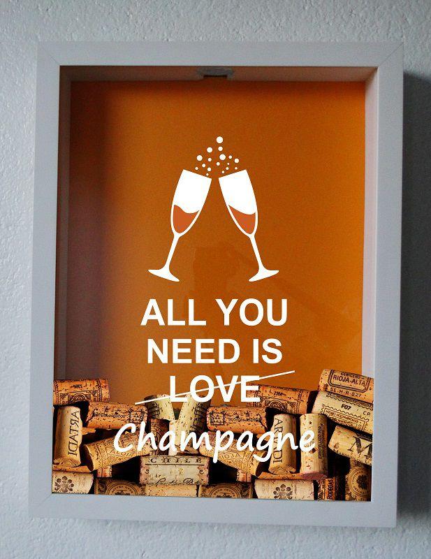 quadro-porta-rolhas-champagne-vinho 5 presentes originais que vão além da lista de casamento