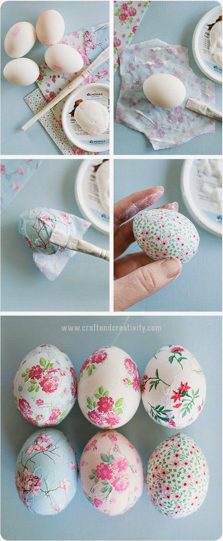ovos pintados a mao
