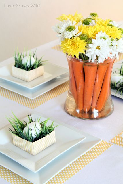 vaso-cenouras Inspirações para a Páscoa