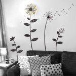 Mamãe Caseira: Adesivos de parede com luminária embutida