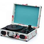 Mamãe Tecnológica: Vitrola retrô em caixa estampada