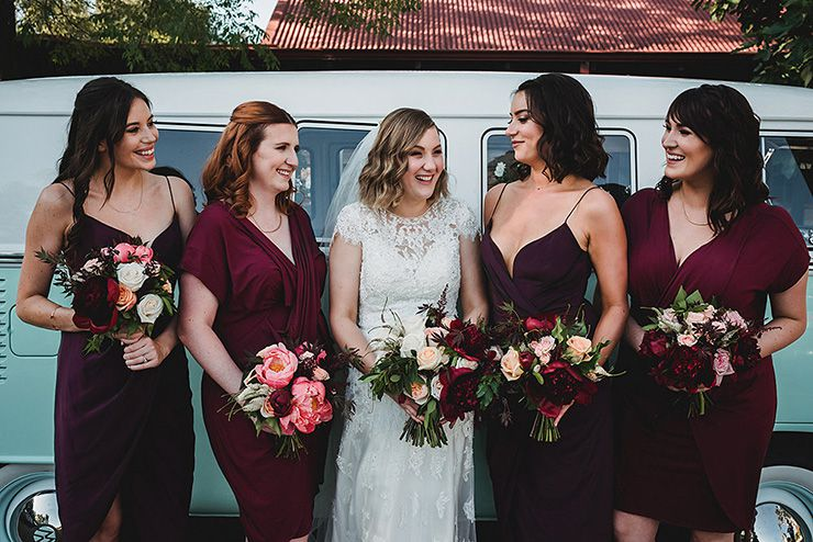 Rich-Berry-and-Navy-Rustic-Wedding-Bridesmaids
