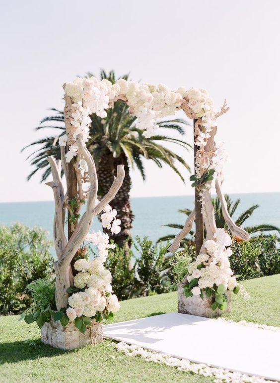 rustic-beach-wedding-ceremony-arch-idea