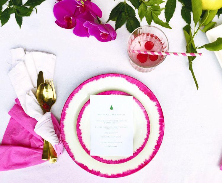 diy-pink-rimmed-plates-1
