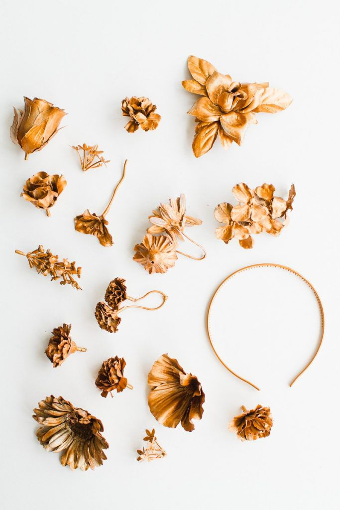 DIY-metallic-bronze-gold-floral-crown-faux-flower-headband-Wedding-bridal_-2-800x1200-683x1024 COROA DE FLOR METÁLICA