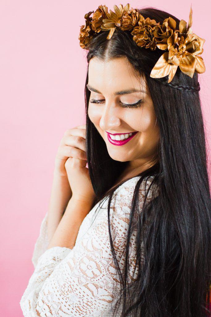 DIY-metallic-bronze-gold-floral-crown-faux-flower-headband-Wedding-bridal_-9-683x1024 COROA DE FLOR METÁLICA