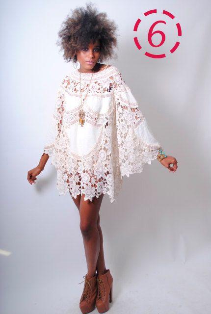 Lace-Crochet-Casual-Wedding-Dress-Festival-Bohemian Um festival de vestidos de Casamento Boho!!