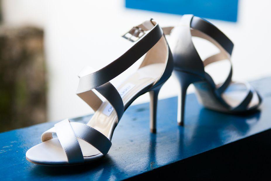 casamento real azul turquesa sapato da noiva
